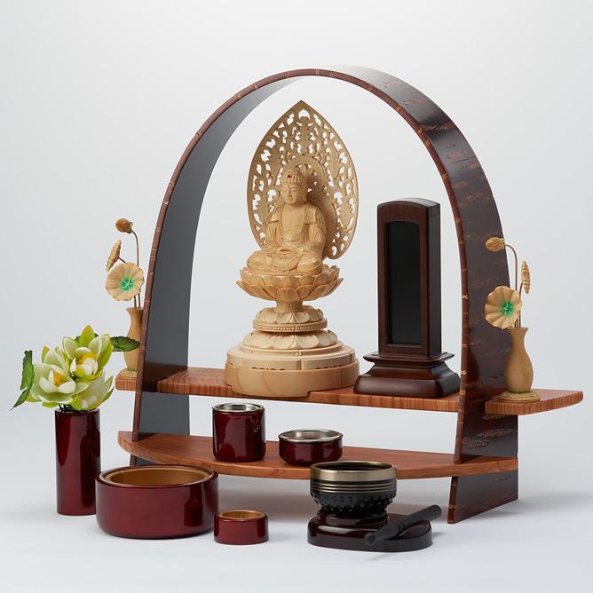 樺 上置き仏壇として